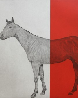 Horse-Study-Red-Guy-Allen-Wychwood-Art-Contemporary-Art