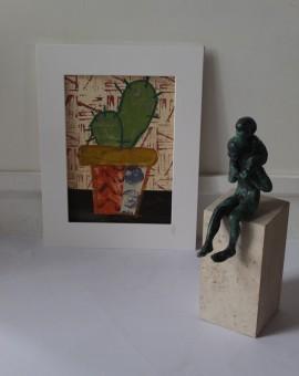 Jenny Balmer, Cactus I, Original Painting, Plant Art 6
