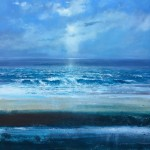Jonathan Trim High Tide Contemporary Seascape on mixed media 100x100cm £1800