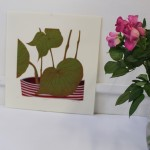 Kerry Day, Begonia, Linocut Print, Still Life Art 6