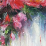 Mary Chaplin Peonies after the shower, detail 2 Wychwood Art