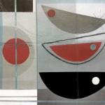 Noir et rouge. Heidi Archer. Wychwood Art.Wychwood Art.full image