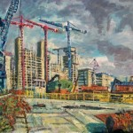 Robert Barlow – Media City Construction At Salford Quays – wychwood Art.jpeg.
