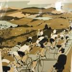 Tour-de-Yorkshire-Eliza-Southwood-Original-Print-Wychwood-Art