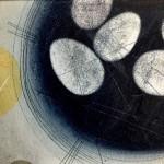 Two in the bush. Heidi Archer. Wychwood Art. Close up eggs