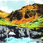 Kayaker-screen-print-Katie-Edwards-Art-Wychwood-Gallery
