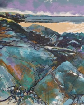 Lucy Davies_Rocks at Constantine Bay, North Cornwall_canvas art_landscape