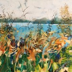 Lucy Davies_View of the Lake_canvas painting_landscape