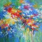 Mary Chaplin Flowers by the river side Wychwood Art