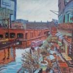 Robert Barlow Reflections On Brindley Place Wychwood Art.jpeg
