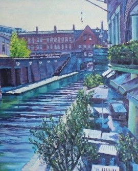 Robert Barlow Sunlight On Brindley Place Wychwood Art.jpeg