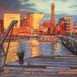 Robert Barlow Sunset On Albert Docks Wychwood Art.jpeg