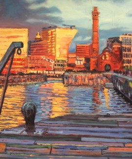 Robert Barlow Sunset On Albert Docks Wychwood Art.jpeg