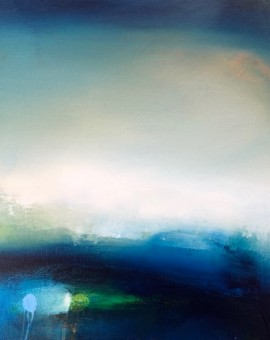 laura rich, original oil painting, evening swim, wychwood art gallery
