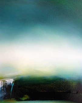 laura rich, original oil painting, mist on the downs, wychwood art gallery
