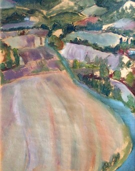 Eleanor Woolley | The river | Impressionistic landscape.
