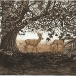 Jane Peart Summer Shadows etching Wychwood Art