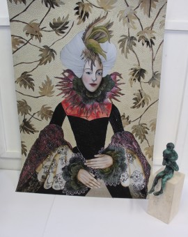 Sabrina Pieper, Lady Bantam, Original Mixed Media Art 8