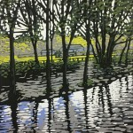 Alexandra Buckle – Grasmere River – lake district linocut print