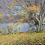 Alexandra Buckle – Grasmere Tree – lake district linocut print