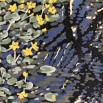 Marsh Marigold, Alexandra Buckle, Limited Edition Linocut Print, Landscape Art, Close Up 3