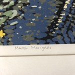 Marsh Marigold, Alexandra Buckle, Limited Edition Linocut Print, Landscape Art, Close Up 7