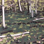 Beeches in Early Spring | Alexandra Buckle | Limited Edition Linocut Print | Original Contemporary Art  | Landscape