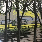 Limited Edition ALexandra Buckle Linocut Print, Grasmere River