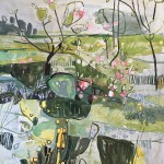 Elaine Kazimierczuk Apple Blossom at Botley Lane  Allotments, Oxford-r