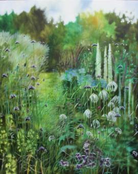 Coastal summer garden VIII - Dylan Lloyd - Wychwood Art
