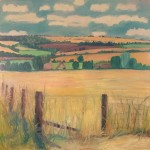 Eleanor Woolley   A view through summer meadows   Landscape