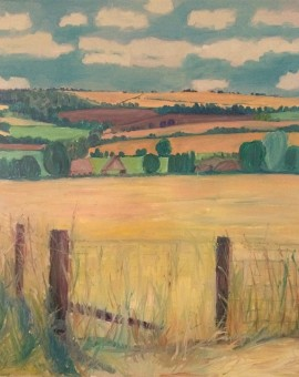 Eleanor Woolley | A view through summer meadows | Landscape