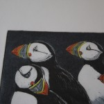 Jane Peart, Breaking Ranks, Animal Art, Bird Art, Puffin Art 2
