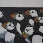 Jane Peart, Breaking Ranks, Animal Art, Bird Art, Puffin Art 3