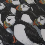 Jane Peart, Breaking Ranks, Animal Art, Bird Art, Puffin Art 6