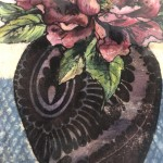 Limited Edition Vicky Oldfield Collagraph Print, Peony , Hand Finished Print, Contemporary Flower Art 3