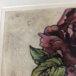 Limited Edition Vicky Oldfield Collagraph Print, Peony , Hand Finished Print, Contemporary Flower Art 4