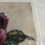 Limited Edition Vicky Oldfield Collagraph Print, Peony , Hand Finished Print, Contemporary Flower Art 6