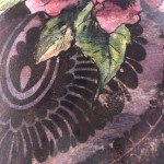 Limited Edition Vicky Oldfield Collagraph Print, Peony , Hand Finished Print, Contemporary Flower Art 7