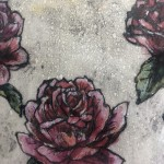 Limited Edition Vicky Oldfield Collagraph Print, Roses Are Red , Hand Finished Print, Contemporary Flower Art 10