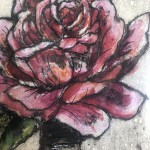 Limited Edition Vicky Oldfield Collagraph Print, Roses Are Red , Hand Finished Print, Contemporary Flower Art 2