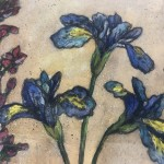 Limited Edition Vicky Oldfield Collagraph Print, Summer Selection, Hand Finished Print, Contemporary Flower Art 3