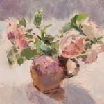 Lynne Cartlidge Roses Stoneware Jug Still Life Painting Wychwood Art