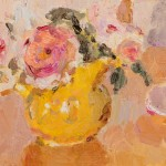 Lynne Cartlidge Roses Yellow Jug Still Life Painting Wychwood Art