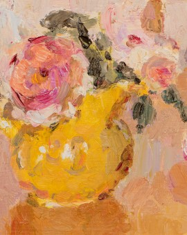 Lynne Cartlidge Roses Yellow Jug Still Life Painting Wychwood Art