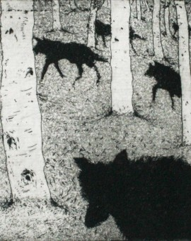 Tim Southall. Wolves in the Woods. Wychwood Art