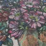 Vicky Oldfield, Everyday Magic, Limited Edition Collograph Print, Floral Art 4