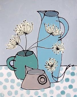 Allium Heads - Jacky Hawthorne - Wychwood Art - Original Art