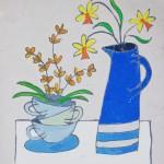 Blue Jug with Daffs – Jacky Hawthorne – Wychwood Art