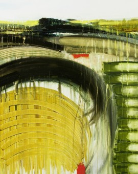 Gina Parr Exmoor from the A361 Contemporary abstract landscape on canvas Wychwood Art